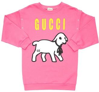 Gucci Lamb Print Cotton Sweatshirt