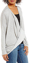 KUT from the Kloth Magdalena Long Sleeve Twist Front Knit Top
