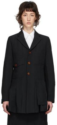Comme des Garçons Comme des Garçons Black Double Cloth Blazer