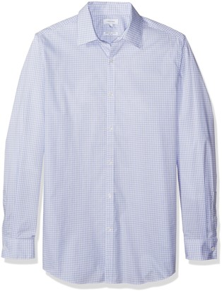 Calvin Klein Men's Big-Tall Infinite Cool Check Button Down Shirt