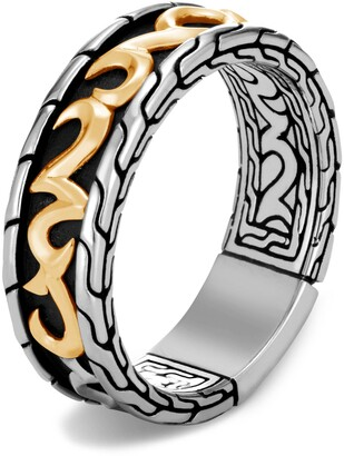 John Hardy Men's Classic Chain Two-Tone 7mm Band Ring