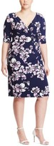 Lauren Ralph Lauren Plus Size Women's Floral Print Faux Wrap Dress