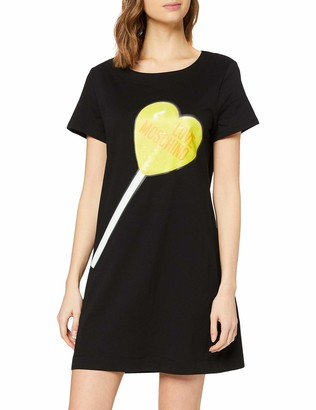 Love Moschino Women's Dress_Heart-Shaped Lollipop&Logo Print