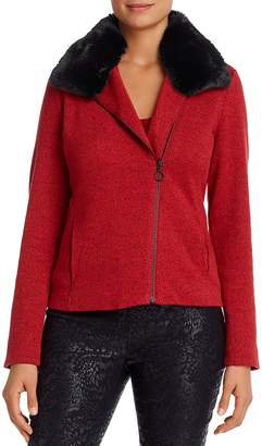 Nic+Zoe Mélange-Knit Moto Jacket