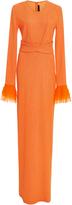 Jeffrey Dodd Belted Long Sleeve Gown
