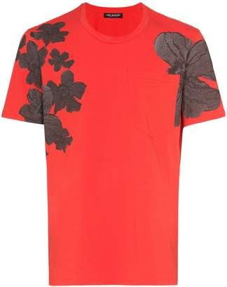 Neil Barrett flower print cotton T-shirt