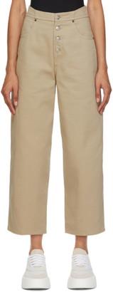 MM6 MAISON MARGIELA Beige 4-Button Jeans