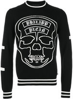 Philipp Plein logo skull jumper - men - Wool Felt - M