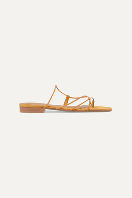 Emme Parsons Chris Leather And Suede Sandals - Yellow
