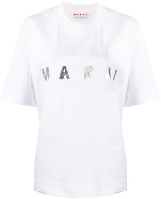 Marni logo print T-shirt