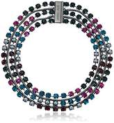 """Betsey Johnson You Give Me Butterflies"""" Faceted Stone Multi Chain Statement Necklace, 16"""""""