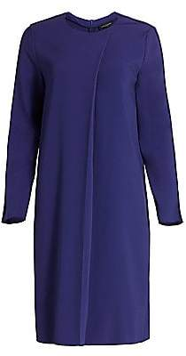 Piazza Sempione Women's Pleat-Front Shift Dress