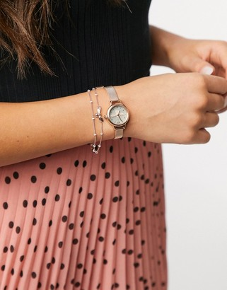 Olivia Burton mini lucky bee watch and bracelet gift set