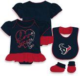 NFL Houston Texans Size 24M 3-Piece Girl Creeper Bib and Bootie Set