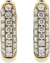 Tamara Comolli Pave Diamond Hoop Earrings