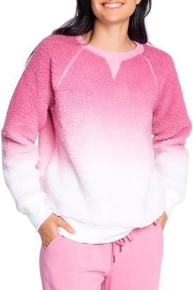 PJ Salvage Dip-Dye Sherpa Sweatshirt