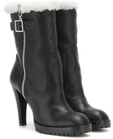 Alexander McQueen Shearling-lined Leather Boots