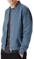 Topman Men's Textured Bomber Jacket