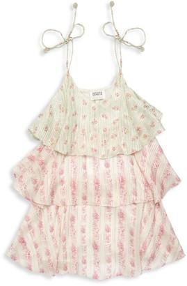 HEMANT AND NANDITA Little Girl's & Girl's Sleeveless Floral-Print Shift Dress
