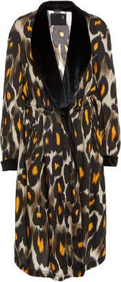 R 13 Leopard Print Cinched Waist Robe