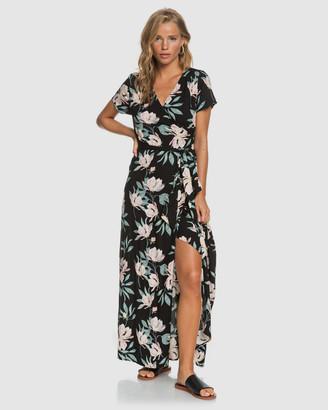 Roxy Womens District Day Maxi Wrap Dress
