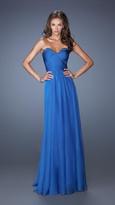 La Femme Strapless Sweetheart Dress in Sapphire Blue 19691