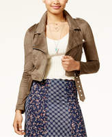 American Rag Juniors' Faux-Suede Moto Jacket, Only at Macy's