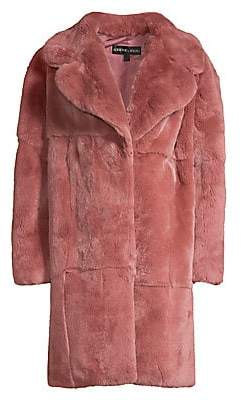 Adrienne Landau Women's Rex Rabbit Fur Coat