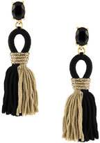 Oscar de la Renta embellished tassel earrings