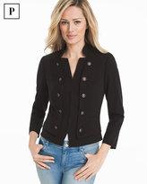White House Black Market Petite Bracelet Sleeve Seasonless Black Jacket