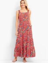 Talbots Paisley Tiered Maxi Dress