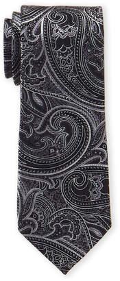 MICHAEL Michael Kors Black Paisley Silk Tie