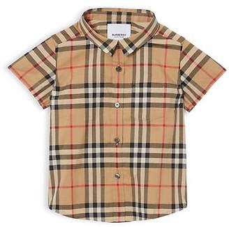 Burberry Baby's & Little Boy's Fredrick Vintage Check Cotton Shirt
