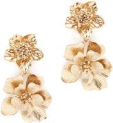 Oscar de la Renta Bold Flower Drop Earrings