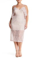 ABS by Allen Schwartz Cold Shoulder Lace Dress (Plus Size)