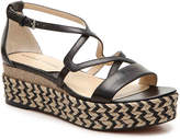 Adrienne Vittadini Women's Louie Wedge Sandal -Black