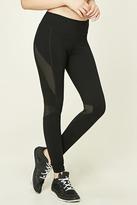 Forever 21 Active Mesh-Paneled Leggings