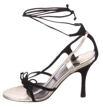 Alexandra Neel Suede Lace-Up Sandals
