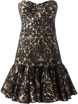 Balmain flared floral lace dress