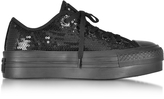 Converse Limited Edition Chuck Taylor All Star Ox Black Platform Sequins Sneakers