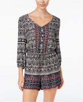 American Rag Printed Drawstring Romper, Only at Macy's