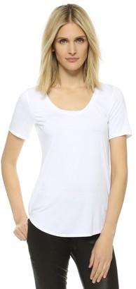 Three Dots Women's Long Shirtail Tee