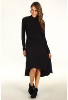 Splendid High Low Turtleneck Dress (Black) - Apparel