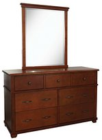 Bolton 842070700 Woodridge 7-Drawer Dresser with Mirror, Chestnut