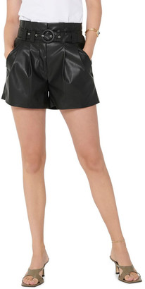 Only Dana Faux Leather Paperbag Shorts