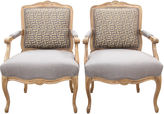 One Kings Lane Vintage Greek Key Fauteuils, S/2