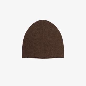 Totême Brown Cashmere Beanie Hat