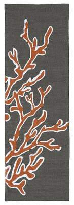 Highland Dunes Claysburg Hand-Tufted Tangerine Area Rug Highland Dunes Rug Size: Runner 2' x 6'
