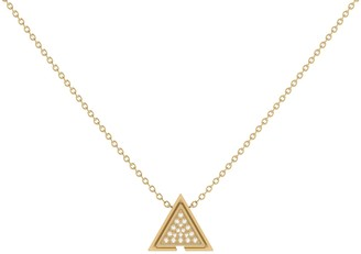 Lmj Skyscraper Triangle Necklace In 14 Kt Yellow Gold Vermeil On Sterling Silver