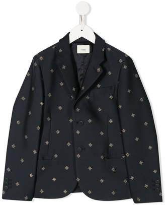 Fendi FF embroidered blazer